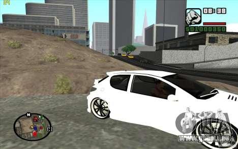 Peugeot 206 Tuning für GTA San Andreas linke Ansicht