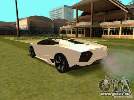 Lamborghini Reventon Convertible pour GTA San Andreas sur la vue arrière gauche