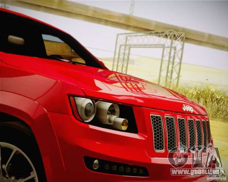Jeep Grand Cherokee SRT-8 2012 pour GTA San Andreas vue de droite