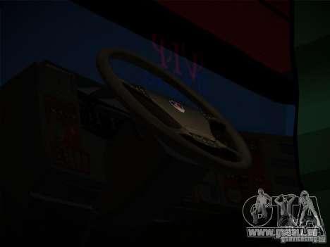 Scania R580 pour GTA San Andreas vue de droite