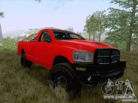 Dodge Ram Trophy Truck pour GTA San Andreas sur la vue arrière gauche