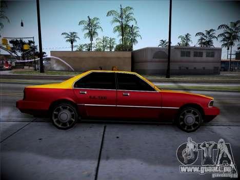 Sentinel Taxi pour GTA San Andreas sur la vue arrière gauche