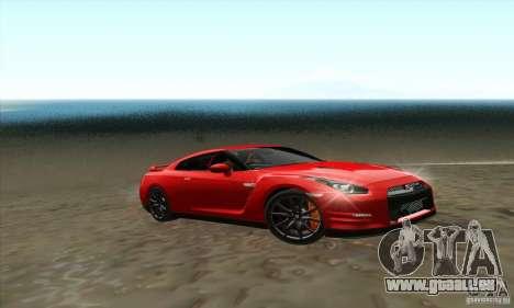 Nissan GT-R R-35 2012 pour GTA San Andreas sur la vue arrière gauche