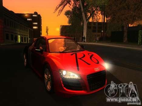 Audi R8 pour GTA San Andreas vue de droite