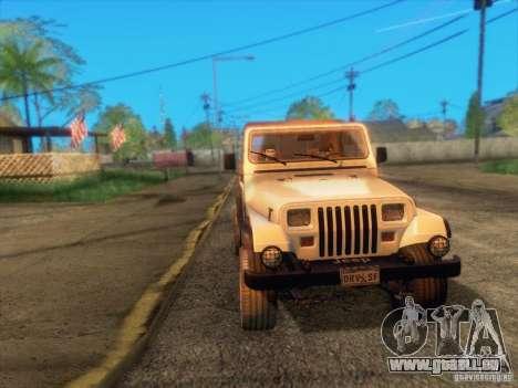 Jeep Wrangler 1994 pour GTA San Andreas vue de côté
