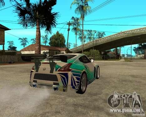 Nissan 370Z pour GTA San Andreas sur la vue arrière gauche