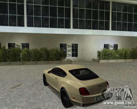 Bentley Continental SS pour une vue GTA Vice City de la droite