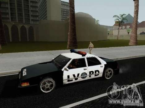 Sunrise Police LV für GTA San Andreas linke Ansicht