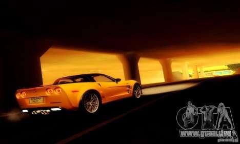 Chevrolet Corvette ZR-1 pour GTA San Andreas vue intérieure
