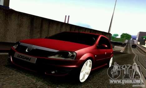 Dacia Logan 2008 pour GTA San Andreas sur la vue arrière gauche