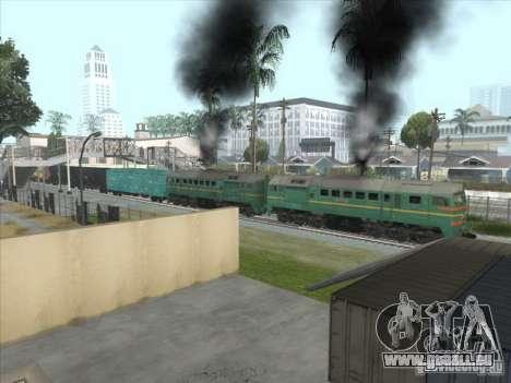 Chemin de fer d'États baltes locomotive fret pho pour GTA San Andreas vue intérieure