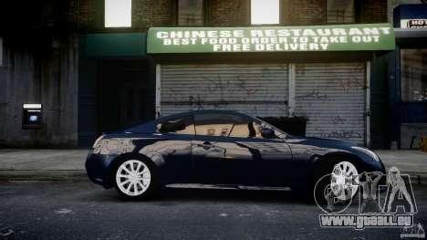 Infiniti G37 Coupe Sport pour GTA 4 Vue arrière