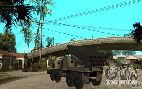 Missile Launcher Truck pour GTA San Andreas sur la vue arrière gauche