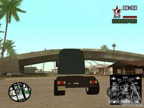 DAF XF für GTA San Andreas rechten Ansicht