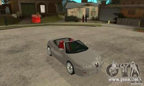 Alfa Romeo Spyder für GTA San Andreas Rückansicht