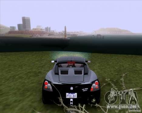 Vauxhall VX220 Turbo für GTA San Andreas zurück linke Ansicht