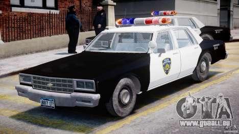 Chevrolet Impala Police 1983 pour GTA 4 est une gauche