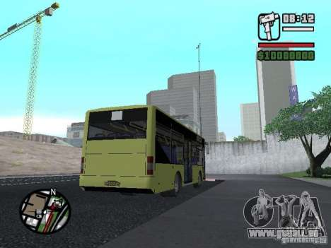 A099 LAZ (SitiLAZ 8) pour GTA San Andreas sur la vue arrière gauche