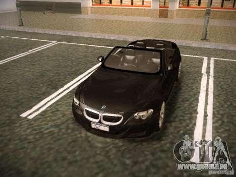 BMW M6 pour GTA San Andreas vue de dessous