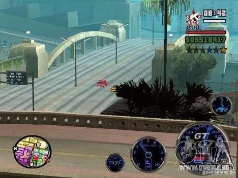 Speedometer GT pour GTA San Andreas cinquième écran