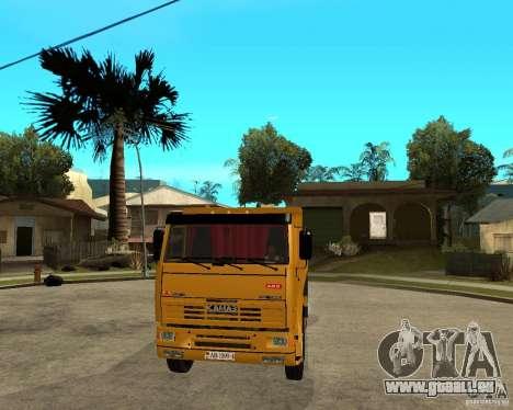 KAMAZ 6520 TAI pour GTA San Andreas vue arrière