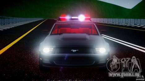 Ford Mustang V6 2010 Police v1.0 für GTA 4 Unteransicht