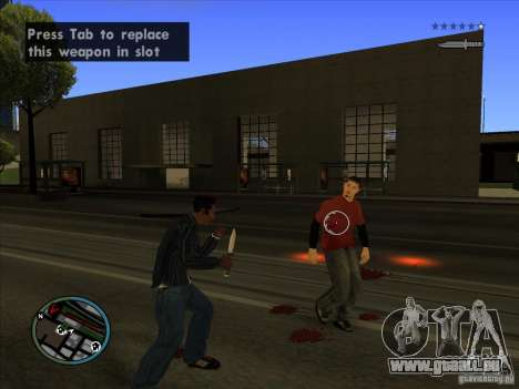 GTA IV TARGET SYSTEM 3.2 pour GTA San Andreas huitième écran