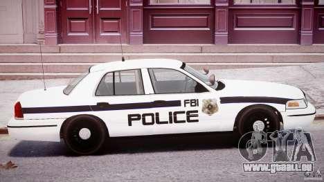Ford Crown Victoria FBI Police 2003 pour GTA 4 vue de dessus