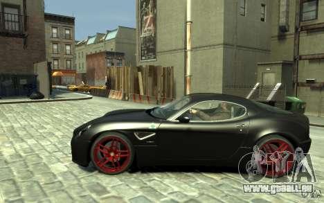 Alfa Romeo 8C Competizione v1 für GTA 4 linke Ansicht