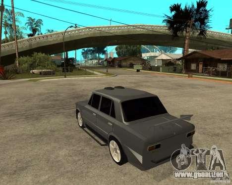 Tuning dur VAZ 2101 pour GTA San Andreas laissé vue