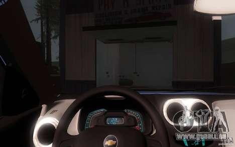 Chevrolet Agile 2012 für GTA San Andreas Innenansicht