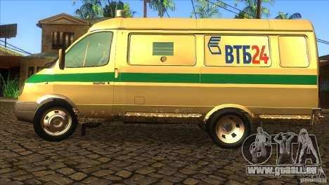Services de transport Gazelle 2705 pour GTA San Andreas laissé vue