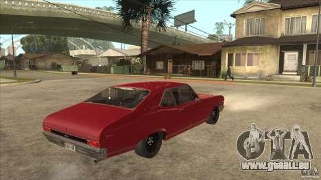 Chevrolet Nova SS pour GTA San Andreas vue de droite