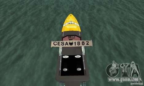 Cesa Offshore für GTA San Andreas Rückansicht