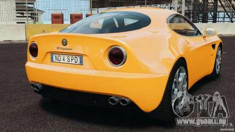 Alfa Romeo 8C Competizione pour GTA 4 Vue arrière de la gauche