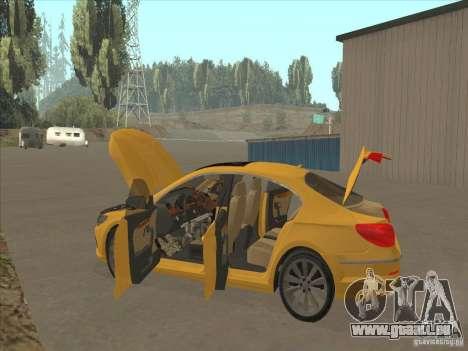 Volkswagen Passat CC pour GTA San Andreas vue de dessous