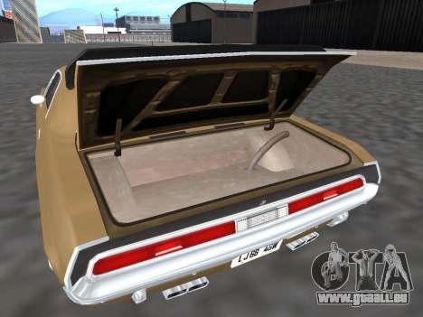 Dodge Challenger 440 Six Pack 1970 pour GTA San Andreas vue intérieure