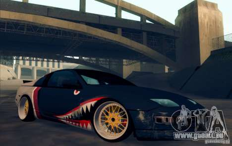 Nissan 300ZX Bad Shark pour GTA San Andreas vue intérieure