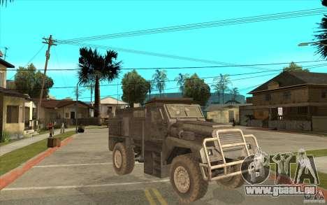 Military Truck pour GTA San Andreas vue intérieure