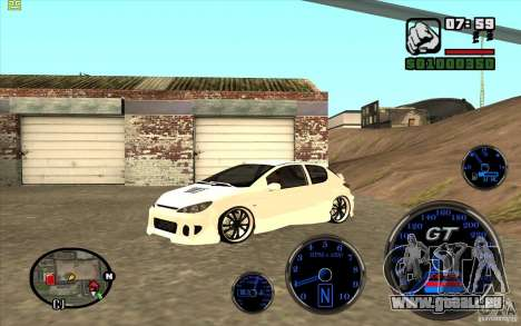 Peugeot 206 Tuning pour GTA San Andreas