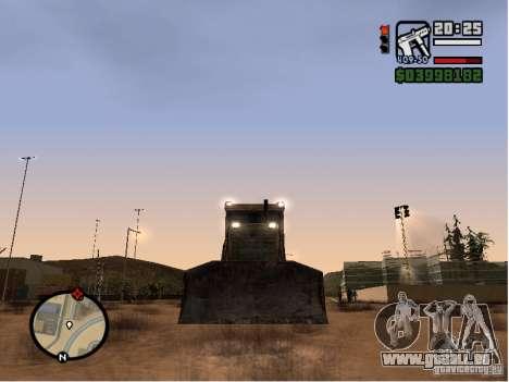 Bulldozer T 130 für GTA San Andreas Rückansicht