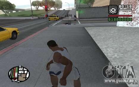 Lancer de couteaux pour GTA San Andreas cinquième écran