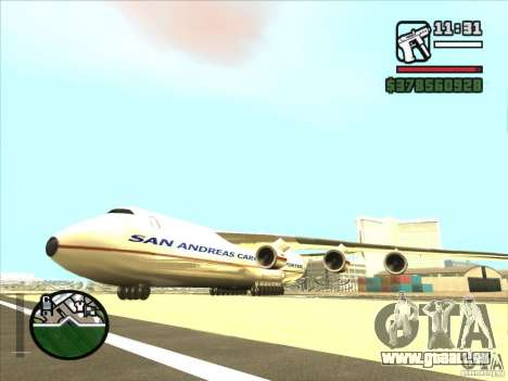 Antonow an-225 für GTA San Andreas linke Ansicht