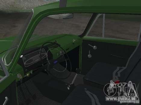 IZH 412 v3.0 pour GTA San Andreas vue arrière