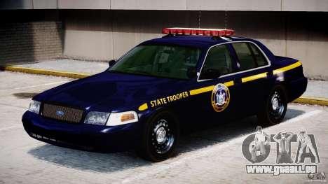 Ford Crown Victoria New York State Patrol [ELS] pour GTA 4 est une gauche
