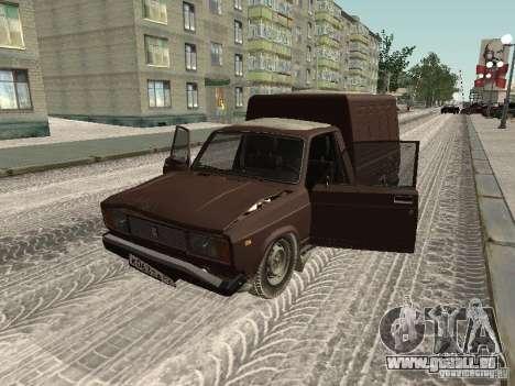 IZH 27175 édition hiver pour GTA San Andreas vue arrière