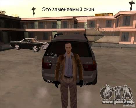 Die Haut ist ein Mitglied der mafia für GTA San Andreas her Screenshot