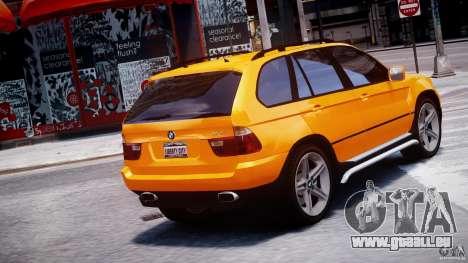 BMW X5 E53 v1.3 pour GTA 4 Vue arrière de la gauche