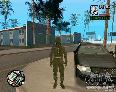 Peau SAS pour GTA San Andreas troisième écran