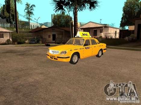 Volga GAZ-31105 Taxi pour GTA San Andreas vue arrière